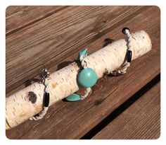 Turquoise and Black Natural Hemp Knotted Necklace-Macrame Necklace-Nursing Necklace-Country Necklace-Natural Fiber-Handmade.