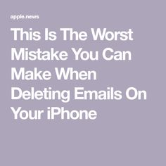 This Is The Worst Mistake You Can Make When Deleting Emails On Your iPhone Cell Phone Hacks, Iphone Life Hacks, Smartphone Hacks, Technology Hacks, Computer Technology, Iphone Information, Computer Help, Computer Tips, Iphone Secrets