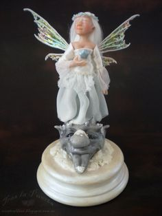 The Faery of wishes. Miniature doll. Ooak Art Doll One of a Kind Fantasy Sculpture.