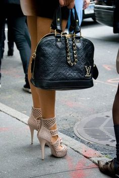 <3 LV bag and the shoes