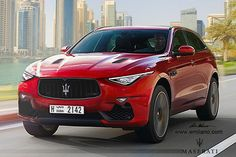 The most important Maserati in the next few years is the upcoming Levante. The car will be shown in Geneva in less than three months.Milano made a rendering. Maserati Suv, Maserati Sports Car, Maserati Granturismo, Rolls Royce Suv, Suv Trucks, Luxury Suv, Expensive Cars, Car Brands, My Ride