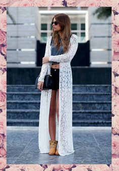 TRY SOMETHING DIFFERENT... THE FULL-LENGTH KIMONO ~ ILOVEFASHIONDAILY - From fashion show to your everyday life