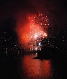 La Piccola Casa:  8 settembre i fuochi d'artificio di Recco visti da San Rocco di Camogli