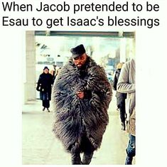 Religious humor Jacob and Esau Bible Jokes, Bible Humor, Jw Humor, Church Memes, Church Humor, Catholic Memes, Jesus Meme, Jesus Humor, Funny Christian Memes
