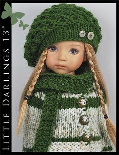 "*** Camouflage *** Outfit for Little Darlings Effner 13"" by Maggie & Kate Create"