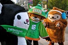 Mascots from Vancouver 2010 Olympic Winter Games