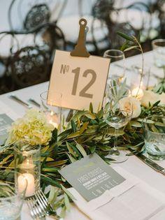 Industrial Chic Wedding Table Numbers: Clipboard   SouthBound Bride   http://www.southboundbride.com/industrial-chic-wedding-table-numbers   Credit: The Edges Wedding Photography/Kristi Amoroso Events/Atelier Joya via Mod Weddings