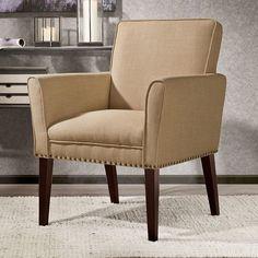 Madison Park Tyler Arm Chair, Beig/Green (Beig/Khaki)