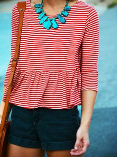 red stripes + turquoise