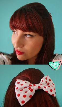 .Estilo Retrô Rock.  Parceria entre www.retrorock.com.br e suspirosderamona.tanlup.com/  #hairstyle #pinup #retro #vintage #retrohair #tie #polkadot #cabelo