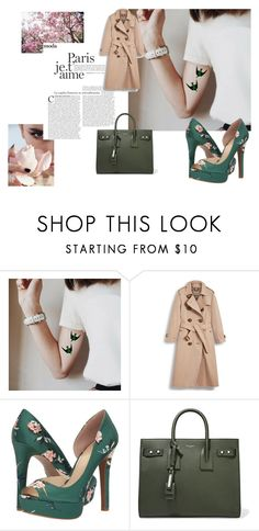 """Senza titolo #225"" by tiziana-enrico on Polyvore featuring moda, Burberry, Jessica Simpson e Yves Saint Laurent"