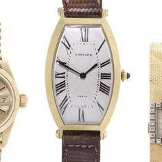Cartier. An 18ct gold manual wind tonneau shaped wristwatch Circa 1990