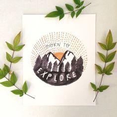 Mountain Nursery Art Mountain Theme Nursery Explore by HappyHartCo