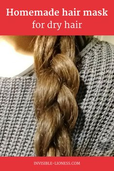 Got dry hair and want that shiny look back? This homemade hair mask for dry hair only needs 3 ingredients and guarantees a Wow-effect! Yogurt Hair Mask, Banana Hair Mask, Banana For Hair, Hair Masks For Dry Damaged Hair, Oily Hair, Homemade Body Butter, Homemade Hair, Hair Pack, Hair Loss Treatment