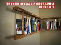 Old ladder = bookshelf