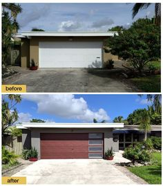 We installed the January $1,000 winner of the 2018 @clopaydoors imagineNATION Makeover Contest! From the faux wood look to the hurricane-rated garage door, we're still excited about this upgrade in curb appeal in Florida! #clopaydoors #broten #garagedoor #garagedoormakeover White Garage Doors, Garage Doors For Sale, Diy Garage Door, Garage Door Insulation, Modern Garage Doors, Residential Garage Doors, Garage Door Styles, Garage Door Makeover, Home Exterior Makeover