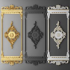 Boiserie molding Model in Decoration Wall Panel Design, Door Design, House Design, Luxury Homes Interior, Home Interior Design, Classic Interior, 3d Cnc, Wall Molding, Moldings