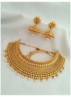 Real Gold Jewelry, Gold Jewellery, Bridal Jewellery, Handmade Jewellery, Antique Jewellery, Earrings Handmade, Temple Jewellery, Wedding Jewelry, Indian Jewelry Sets