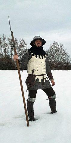 Бригантины 14-15 века. Soldier pike men 14th century 1400 1500
