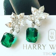 SAYING GOODNIGHT WITH MY FAVORITE HARRY WINSTON EARRINGS.... LOVE LOVE LOVE!!!! @harrywinston Emerald and diamond earrings reposted from @frankbeverett for @sothebys