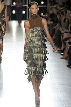 1. Aquilano e Rimondi Spring/Summer 2009, kaunakes inspired thick fringe with…
