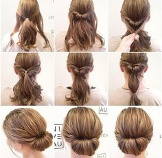 Simply beautiful hair for long hair «Beauty 2019 - Lange Haare Zopf Interview Hairstyles, Braided Hairstyles, Easy Hairstyle, Hairstyle Ideas, Fine Hair Updo, Medium Hair Styles, Curly Hair Styles, Hair Upstyles, Short Curly Hair