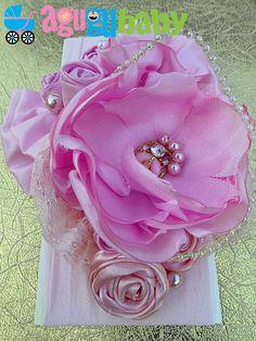 Baby Pink Nylon Baby Headband