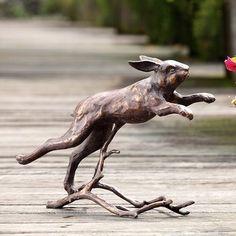 Running Bunny Rabbit Garden Sculpture Iron Statue Outdoor Bronze Finish 15 5 W Rabbit Garden, Rabbit Art, Bunny Rabbit, Outdoor Statues, Garden Statues, Garden Sculptures, Rabbit Jumping, Rabbit Sculpture, Garden Lanterns