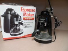ESPRESSO MAKER. 4 CUP CAPACITY. CONTINENTAL ELECTRIC.