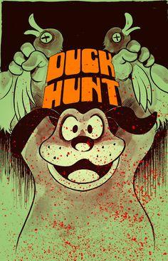 The original Duck Hunt on Nintendo NES Hunting Art, Duck Hunting, Retro Video Games, Video Game Art, Fotos Do Pokemon, Pop Art, Bartop Arcade, Duck Season, Nintendo