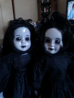 """Our dolls for """"Voodoo Child.""""  Supplied by Deliciously Creepy Dolls.  Find them on Facebook and eBay."""