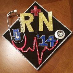 Decorated Nursing Grad Cap Grad Cap Decorations And