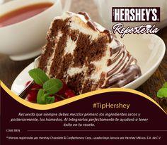 Hershey's® Repostería tiene para ti los mejores tips. #Hersheys #Chocolate #Repostería #Postres #Receta #DIY #Bakery #Pastel