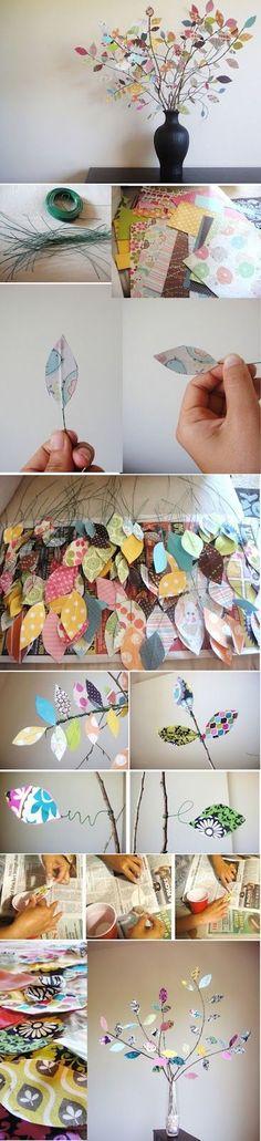 Risque no papel o molde em formato folha e recorte. Desenhe no tecido e recorte duas folhas de cada cor.Corte um pedaço de arame co...