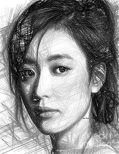 Female Sketch expression by Rafael Salazar