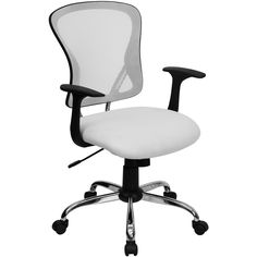 Best Desk Chair Under 200 Counter Height Patio Chairs 18 Office Dollars Images Mid Back White Mesh With Chrome Base