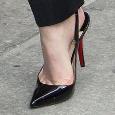 Louboutin high heel slingbacks