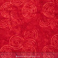 Sumatra Batiks ll - Circles with Dots Red Yardage