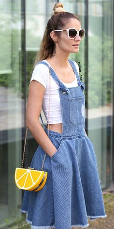 Shop Blue Pockets Fringe Hem Backless Denim Straps Dress at ROMWE, discover more fashion styles online. Frock Fashion, Denim Fashion, Fashion Dresses, Pretty Outfits, Cool Outfits, Summer Outfits, Quirky Fashion, Korean Fashion, Cute Overalls