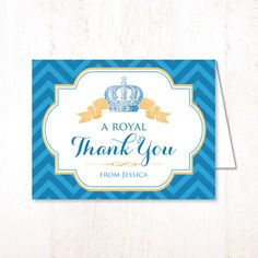 Royal Baby Shower  Little Prince  CUSTOM PRINTABLE Folded by HWTM, $8.50