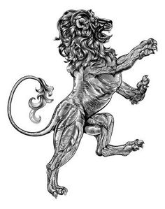 Wolf or dog in rampant heraldic coat of arms pose. A pet dog or wolf animal in a rampant heraldic coat of arms pose standing on hind legs. Doodle Tattoo, Lion Tattoo, Lion Vector, Free Vector Art, Crest Tattoo, Owl Eyes, Creative Tattoos, Nose Art, Coat Of Arms