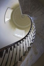 The spiral staircase in the Temple of the Winds at Mount Stewart House, Co Down, Northern Ireland