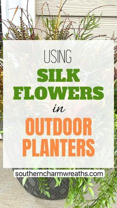 Fall Planters, Outdoor Planters, Garden Planters, Backyard Projects, Diy Craft Projects, Diy Crafts, Craft Ideas, Fall Flowers, Diy Flowers