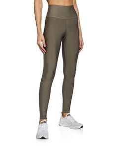 Alo Yoga High-waist Tech Lift Airbrush Leggings In Olive Branch Yoga Fashion, Lycra Spandex, Second Skin, Workout Gear, Airbrush, Stylish Outfits, Lounge Wear, High Waist, Menswear