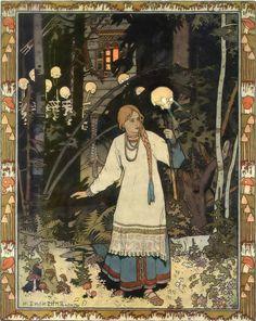 :: Sweet Illustrated Storytime :: Illustration by Ivan Bilibin - Vasilisa leaving the house of Baba Yaga