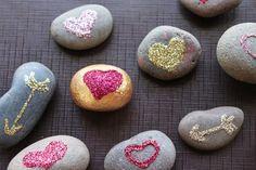 Bricolage de St-Valentin à faire soi-même - roches