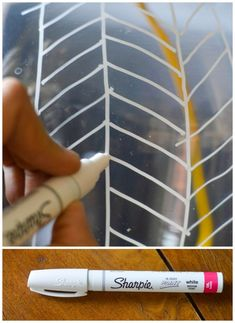 If you are drawing on glass make sure that it is an oil based pen, it will make your design much more durable.