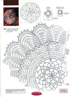 Rosette in White crochet doily diagram Crochet Doily Diagram, Crochet Doily Patterns, Crochet Chart, Filet Crochet, Crochet Designs, Crochet Doilies, Crochet Books, Crochet Home, Thread Crochet