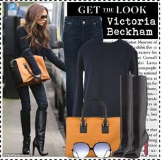 """C eleb Style: Victoria Beckham"" by ellize-back ❤ liked on Polyvore"