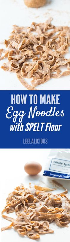 These delicious egg noodles are made with whole grain spelt flour! Find out how you can make homemade egg noodles with or without a pasta machine. AD
